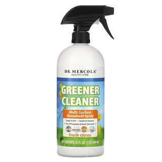 Dr. Mercola, 更綠色更清潔,多表面家用噴霧劑,新鮮柑橘,32 液量盎司(946 毫升)
