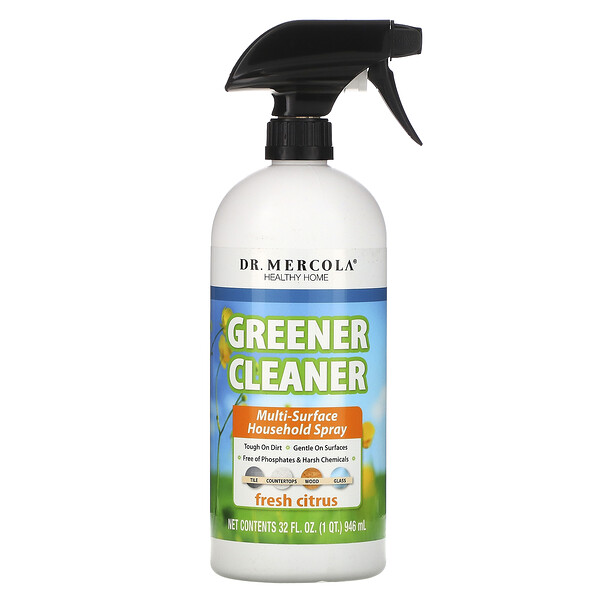 Greener Cleaner, Multi Surface Household Spray, Fresh Citrus, 32 fl oz (946 ml)