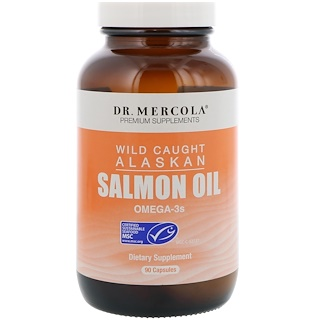 Dr. Mercola, Wild Caught Alaskan Salmon Oil, 90 Capsules