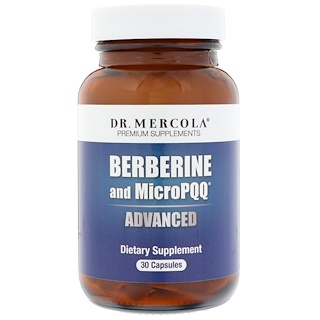 Dr. Mercola, Berberine and MicroPQQ Advanced, 30 Capsules