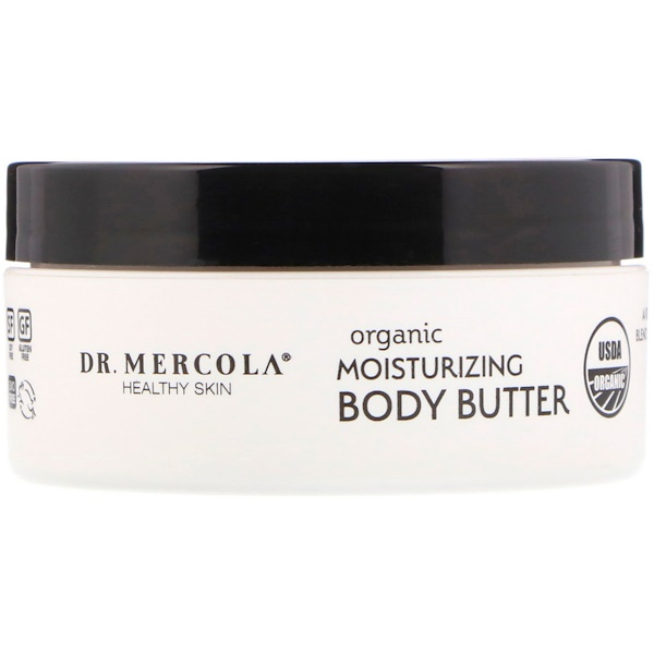 Dr. Mercola, Organic Moisturizing Body Butter, Unscented, 4 oz (113 g)