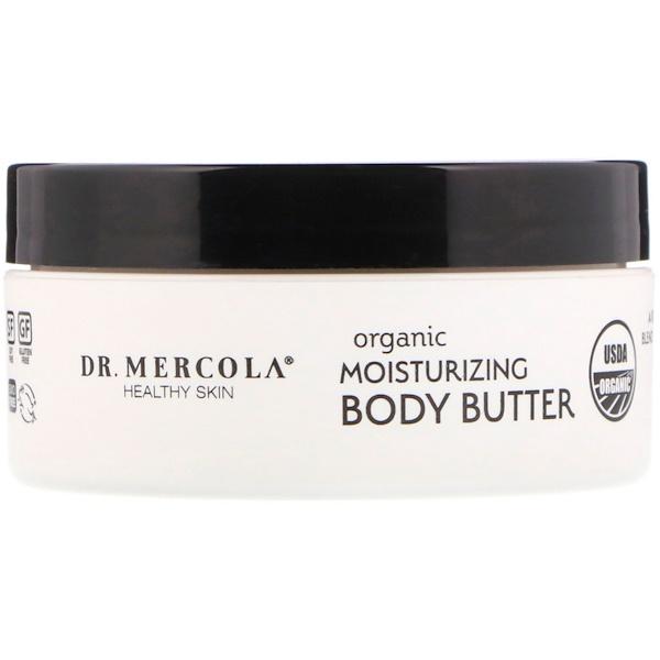 Organic Moisturizing Body Butter, Unscented, 4 oz (113 g)
