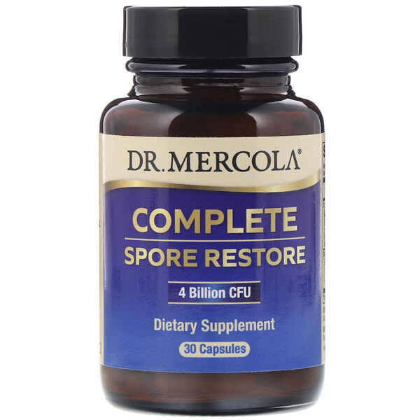 Dr. Mercola, Complete Spore Restore, 4 Billion CFU, 30 Capsules
