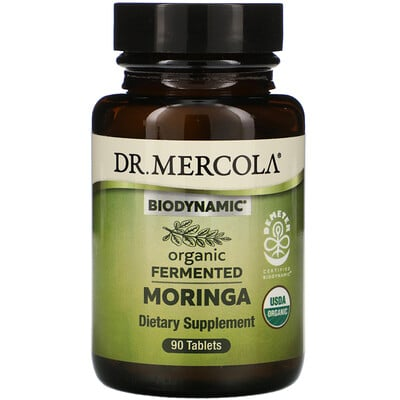 Купить Dr. Mercola Biodynamic, Organic Fermented Moringa, 90 Tablets