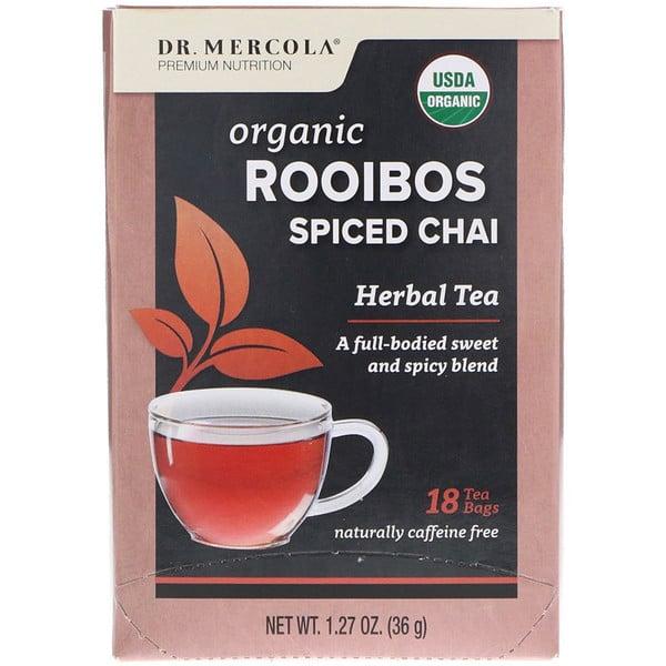 Dr. Mercola, تشاي المريمية العضوية كثير التوابل, شاي أعشاب، 18 كيس شاي، 1.27 أوقية (36 جم) (Discontinued Item)