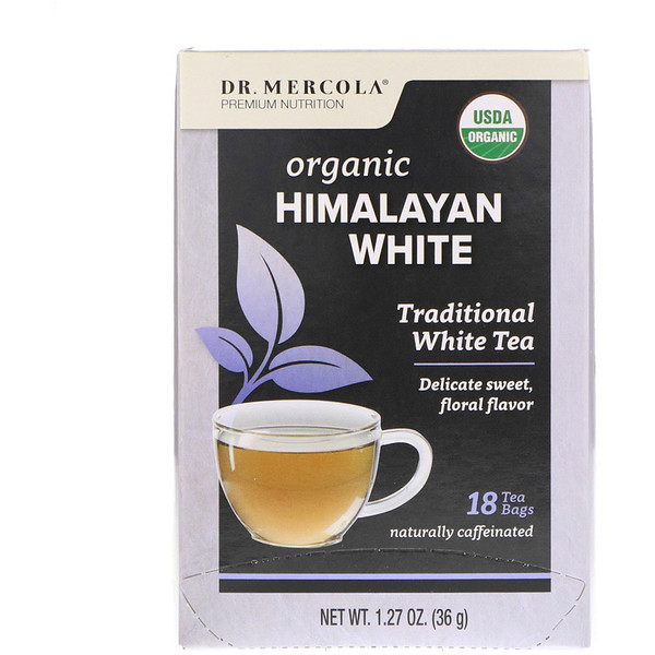 Dr. Mercola, Organic Himalayan White Tea, 18 Tea Bags, 1.27 oz (36 g) (Discontinued Item)
