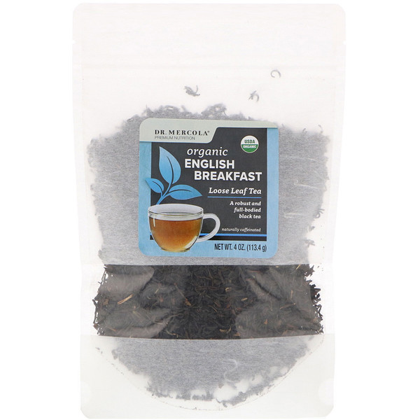 Dr. Mercola, Organic English Breakfast, Loose Leaf Tea, 4 oz (113.4 g) (Discontinued Item)
