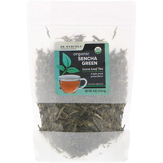 Dr. Mercola, Organic Sencha Green, Loose Leaf Tea, 4 oz (113.4 g)