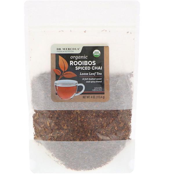 Dr. Mercola, Organic Rooibos Spiced Chai, Loose Leaf Tea, 4 oz (113.4 g) (Discontinued Item)