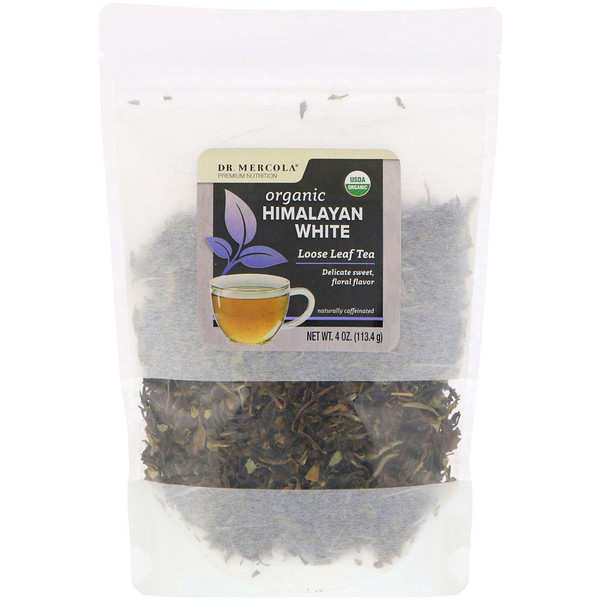 Dr. Mercola, Organic Himalayan White, Loose Leaf Tea, 4 oz (113.4 g)