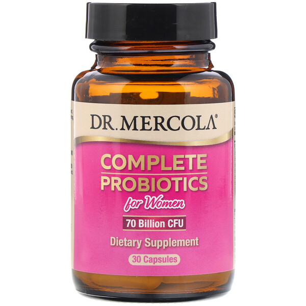 Complete Probiotics for Women, 70 Billion CFU, 30 Capsules