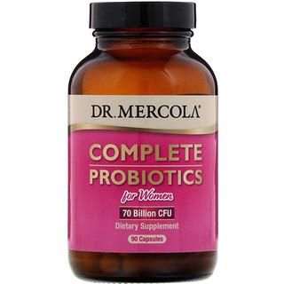 Dr. Mercola, Complete Probiotics for Women, 70 Billion CFU, 90 Capsules