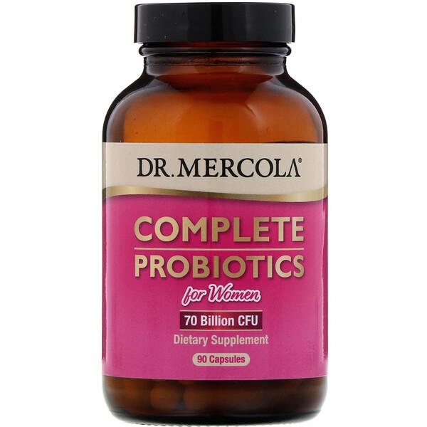 Dr. Mercola, Complete Probiotics for Women, 70 Billion CFU, 90 Capsules (Discontinued Item)