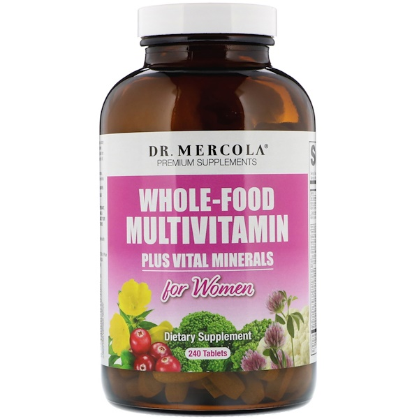 Dr. Mercola, Whole-Food Multivitamin Plus Vital Minerals for Women, 240 Tablets