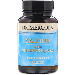 Dr. Mercola, Calcio con vitaminas D3 y K2, 30 comprimidos