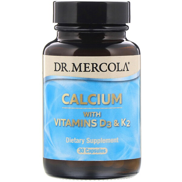 Calcium with Vitamins D3 & K2, 30 Capsules