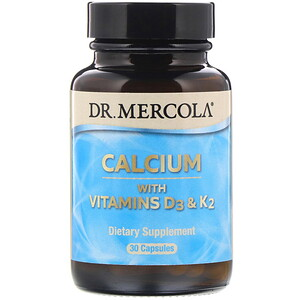 ДР. Меркола, Calcium with Vitamins D3 & K2, 30 Capsules отзывы покупателей