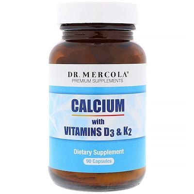 Купить Dr. Mercola Кальций с витаминами D3 и K2, 90 капсул