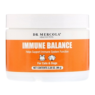 Dr. Mercola, Healthy Pets, Immune Balance, For Cats & Dogs, 3.38 oz (96 g)