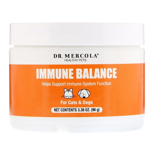Dr. Mercola, Healthy Pets, Immune Balance, For Cats & Dogs, 3.38 oz (96 g) (Discontinued Item)