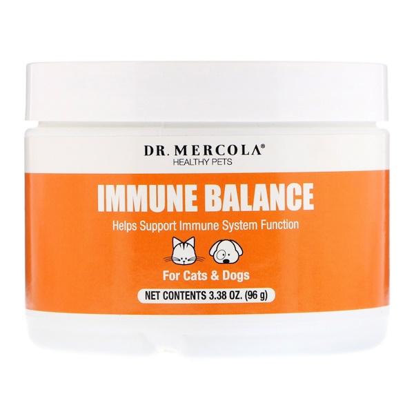 Dr. Mercola, Bichinhos Saudáveis, Equilíbrio Imunológico, Para Cães e Gatos, 3,38 oz (96 g) (Discontinued Item)