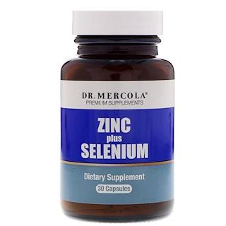 Dr. Mercola, セレニウム入り亜鉛、カプセル30粒