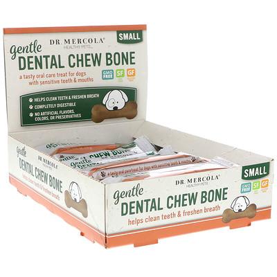 Купить Dr. Mercola Gentle Dental Chew Bone, Small, For Dogs, 12 Bones, 0.67 oz (19 g) Each