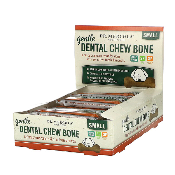 Gentle Dental Chew Bone, Small, For Dogs, 12 Bones, 0.67 oz (19 g) Each