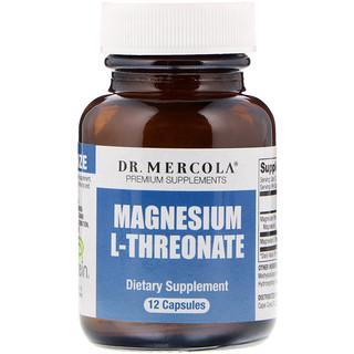 Dr. Mercola, Magnesium L-Threonate, 12 Capsules