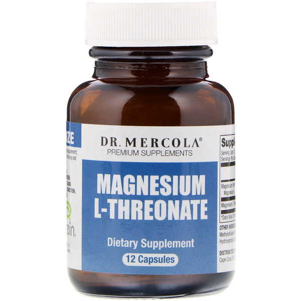 Dr. Mercola, Magnesium L-Threonate, 12 Capsules (Discontinued Item)