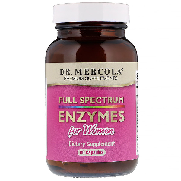 Dr. Mercola, Full Spectrum Enzymes For Women, 90 Capsules