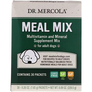 Dr. Mercola, Смесь пищи, мультивитаминная и минеральная добавка для взрослых собак, 30 пакетиков, по 0,26 унции (7,65 г) каждый
