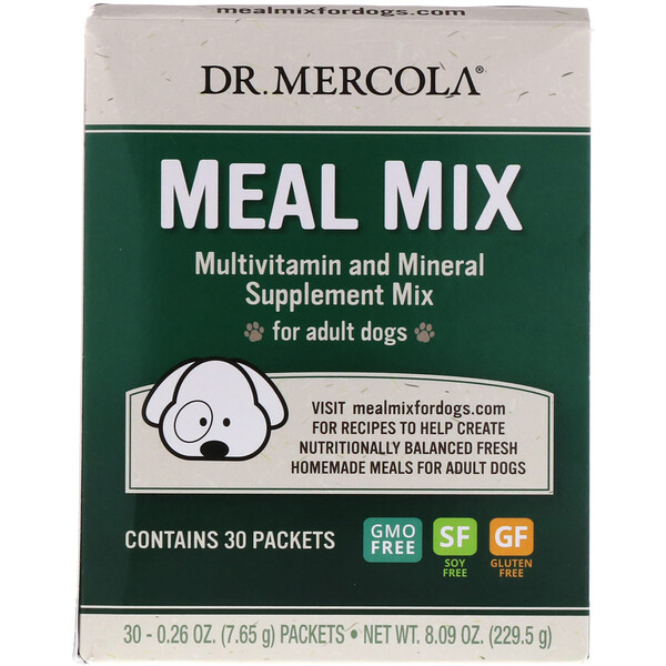 Meal Mix, Multivitamin and Mineral Supplement Mix for Adult Dogs, 30 Packets, 0.26 oz (7.65 g) Each