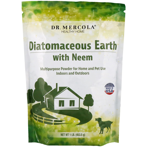 :Dr、 Mercola, Diatomaceous Earth with Neem, 1 lb (453、5 g)