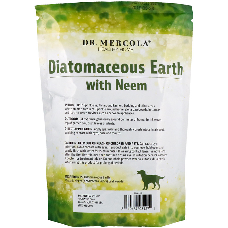 Dr. Mercola, Diatomaceous Earth with Neem, 1 lb (453.5 g) - photo 1