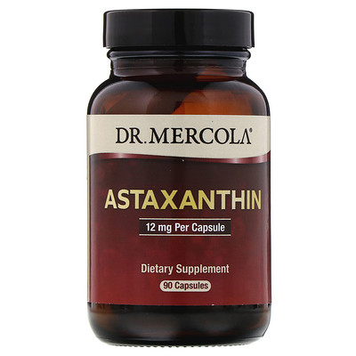 Купить Dr. Mercola Астаксантин, 12мг, 90капсул