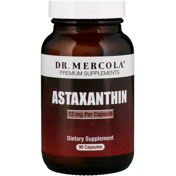 Dr、 Mercola, Astaxanthin, 12 mg, 90 Capsules