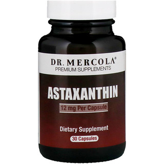 Dr. Mercola, Astaxanthin, 12 mg, 30 Capsules