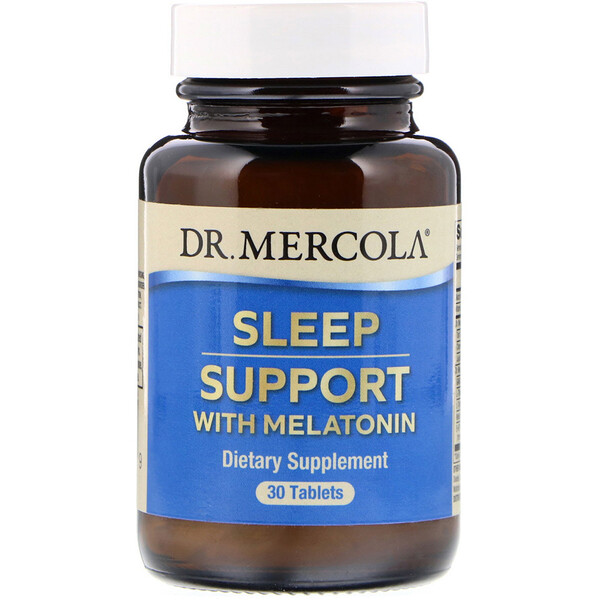 Dr. Mercola, Sleep Support with Melatonin, 30 Tablets