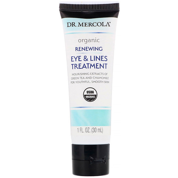 Organic Renewing Eye & Lines Treatment, 1 fl oz (30 ml)