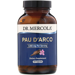 Dr. Mercola, Pau D'Arco, 1,000 mg, 120 Capsules