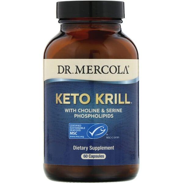 Dr. Mercola, Keto Krill (cetona de krillo) com Fosfolipídeos de Colina e Serina, 60 cápsulas