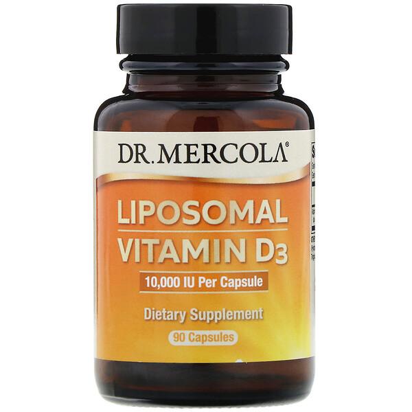Dr. Mercola, VitamineD3 liposomale, 10000 IU, 90capsules