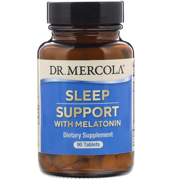 Dr. Mercola, Sleep Support with Melatonin, 90 Tablets