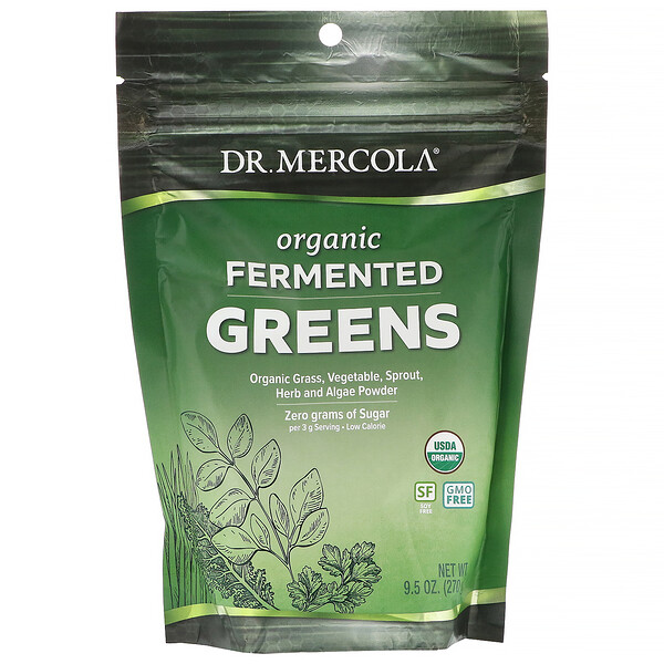 Dr. Mercola, Organic Fermented Greens, 9.5 oz (270 g)
