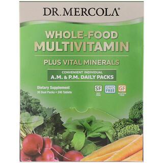 Dr. Mercola, Vollwertiges Multivitamin für morgens und abends. Tagespackung, 30Doppelpackungen