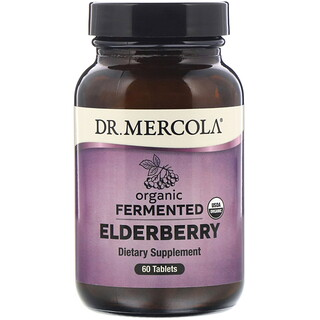 Dr. Mercola, Organic Fermented Elderberry, 60 Tablets