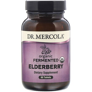 Dr. Mercola, Organic Fermented Elderberry, 60 Tablets
