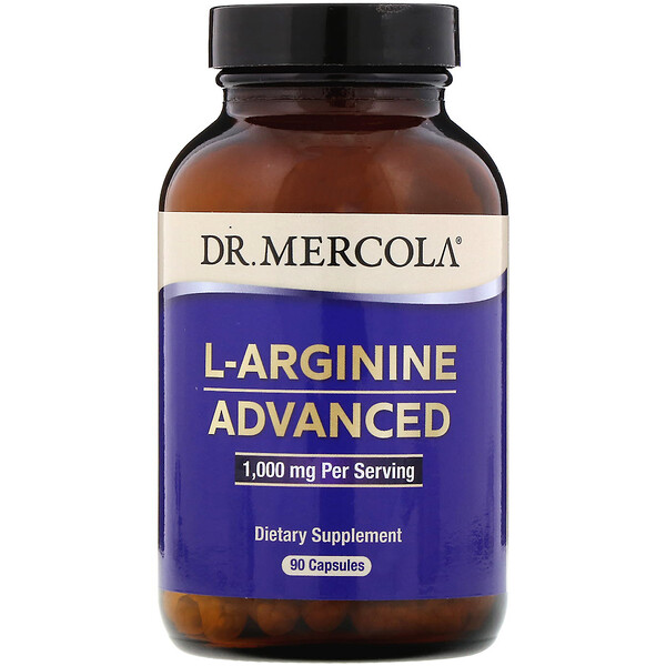 Dr. Mercola, L-Arginine Advanced, 1,000 mg, 90 Capsules