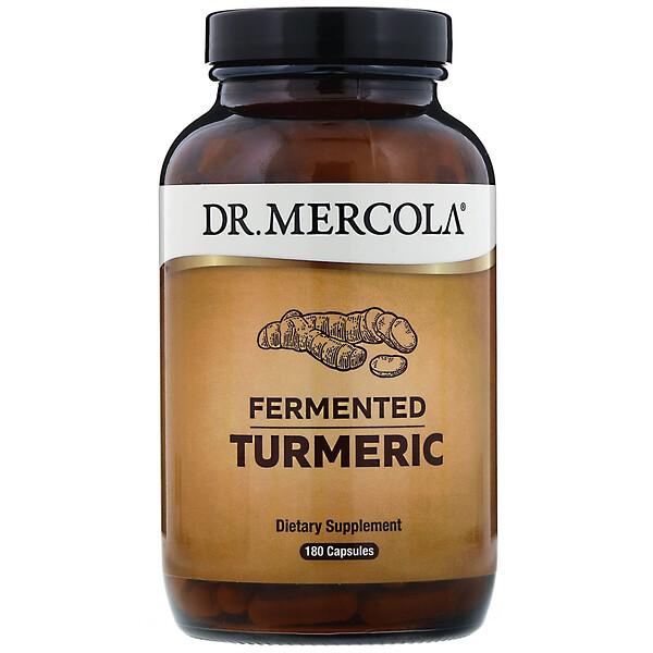 Dr. Mercola, כורכום מותסס, 180 כמוסות